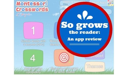 Montessori Crosswords app cover page