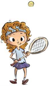 girl tossing tennis ball 2