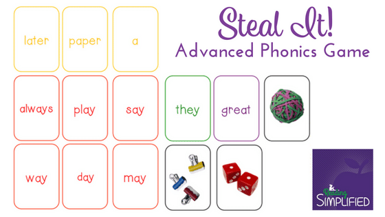 sight word game Steal It! example