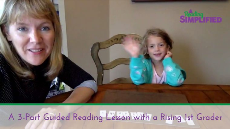guided reading lesson 1st grader