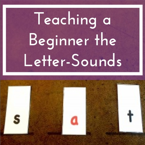 Teaching a Beginner the Letter-Sounds
