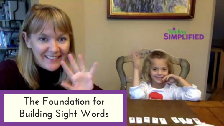 foundation for building sight words