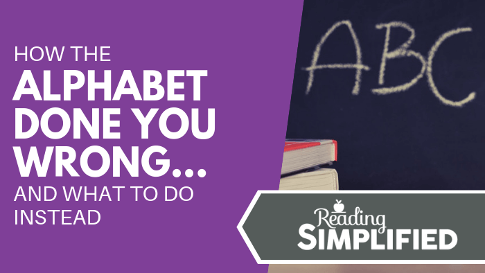 How the Alphabet Done You Wrong...And What to Do Instead