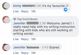 teachers' comments about writing instruction