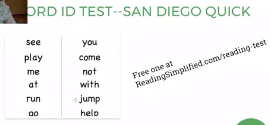 Word ID Test