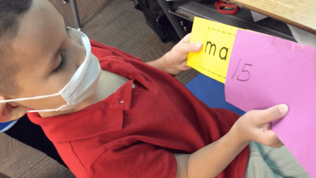 Blending Game-Mystery Word Envelope in Classroom