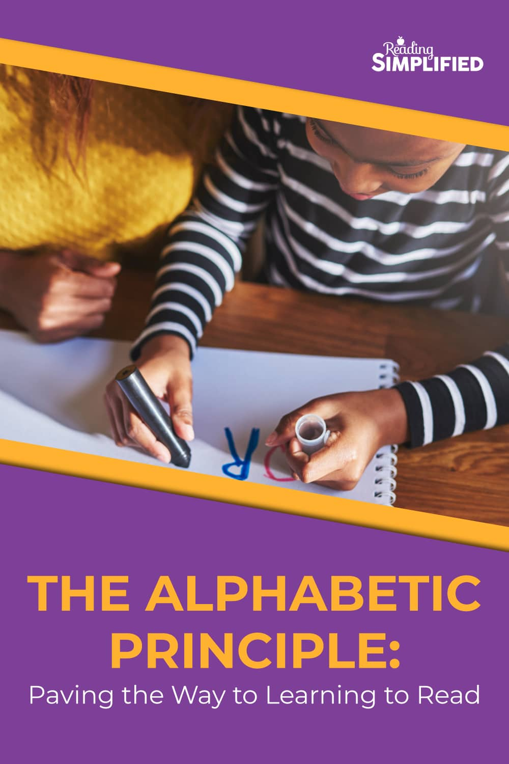 The Alphabetic Principle: Paving the Way to Learning to Read, child writing letters on paper