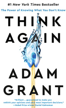 Think Again by Adam Grant book cover